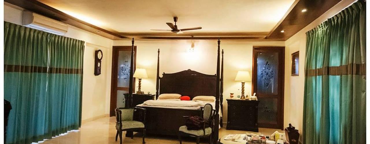 Rahaman's residence Sandarbh Design Studio Classic style bedroom Plywood Wood effect