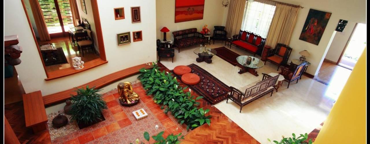 Ausgefallene Wohnzimmer von Sandarbh Design Studio Ausgefallen