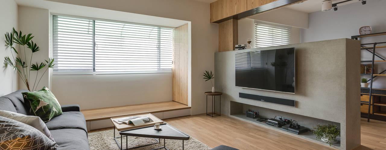 Living room by 御見設計企業有限公司, Minimalist