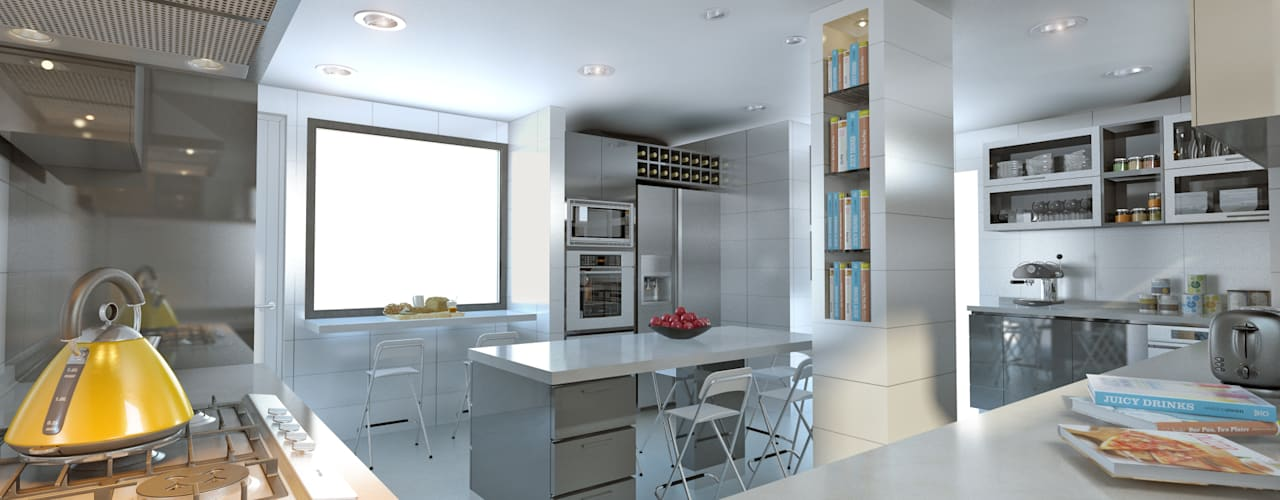 Built-in kitchens by homify, Modern