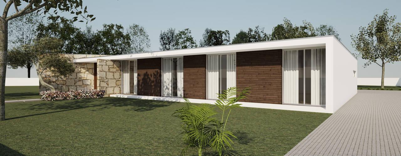 Moradia Unifamiliar: Casas unifamilares  por comSequência - Arquitectura & Design,