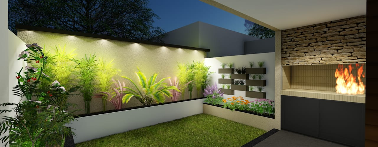 Jardines de estilo minimalista por Arquitecto Leandro Puy