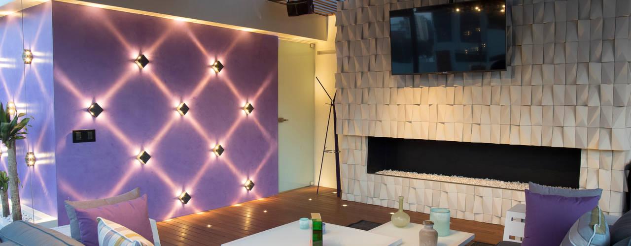 Cubic White: Salas de estilo  por STUDIO COCOONS