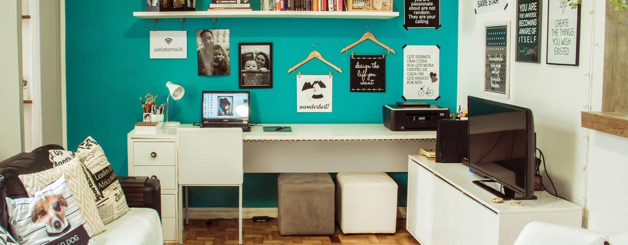 Рабочий кабинет в эклектичном стиле от INTERIOR - DECORAÇÃO EMOCIONAL Эклектичный