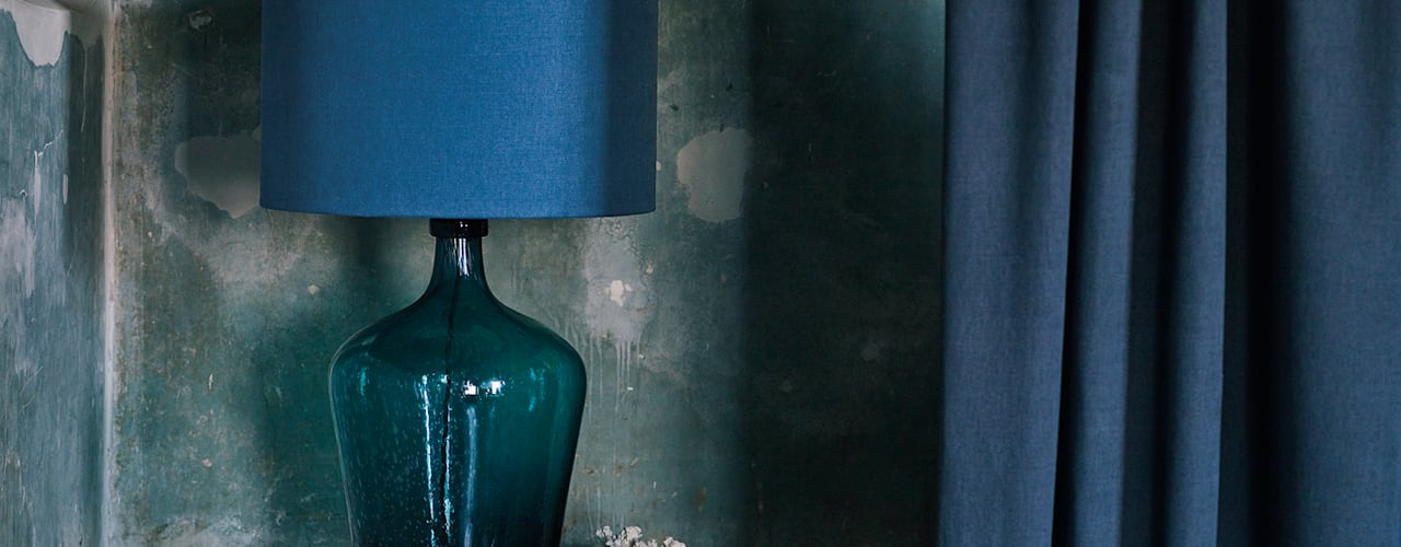Wohnwiese Jette Schlund industrial style corridor, hallway & stairs Glass Blue