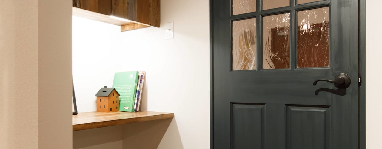 house-09(renovation) インダストリアルデザインの 書斎 の dwarf インダストリアル