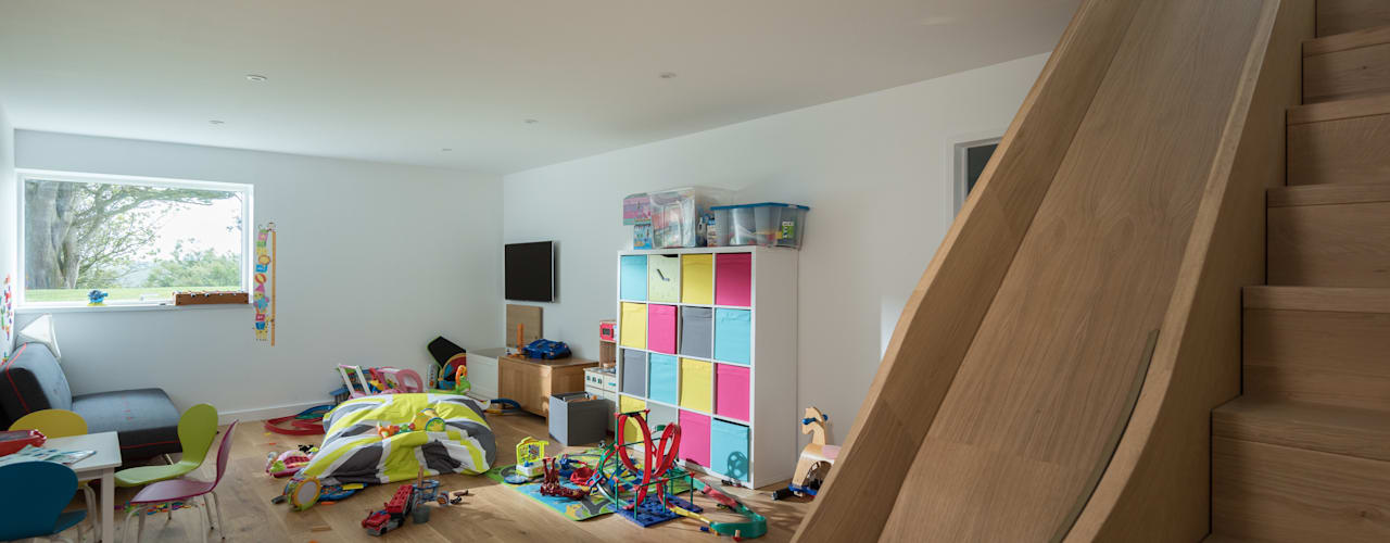 Contemporary Replacement Dwelling, Cubert Laurence Associates Stanza dei bambini moderna