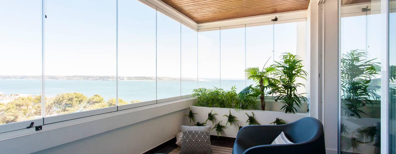 Apartamento c/ 1 quarto - Paço de Arcos, Oeiras por Traço Magenta - Design de Interiores Moderno