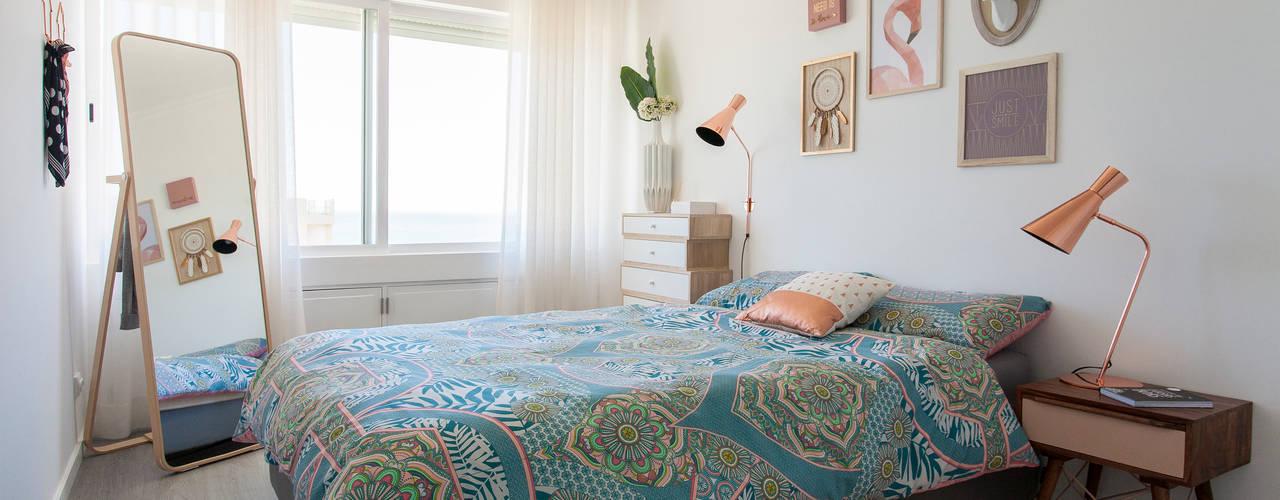 Apartamento c/ 1 quarto - Paço de Arcos, Oeiras Traço Magenta - Design de Interiores Quartos modernos