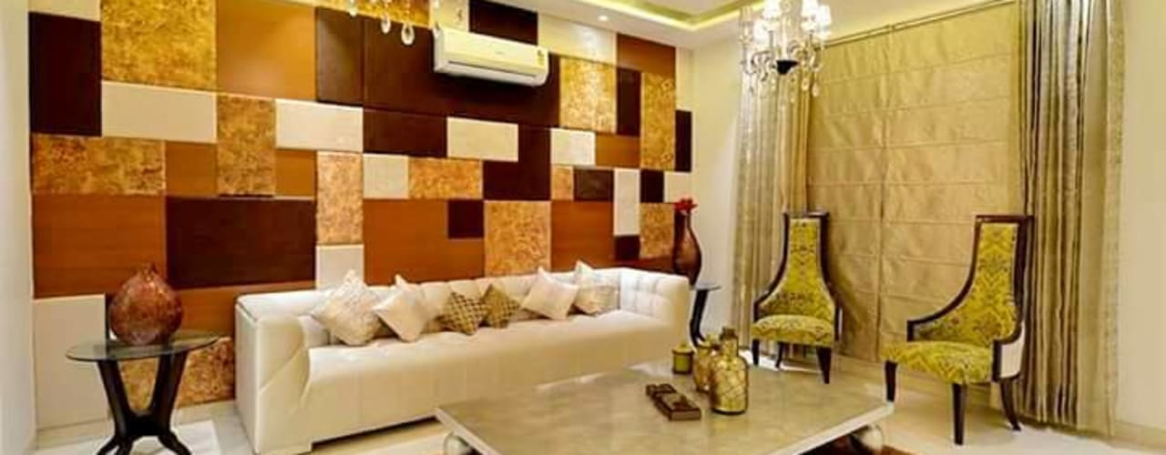 Independent Bungalow - Mr. Modi Scandinavian style living room by DECOR DREAMS Scandinavian