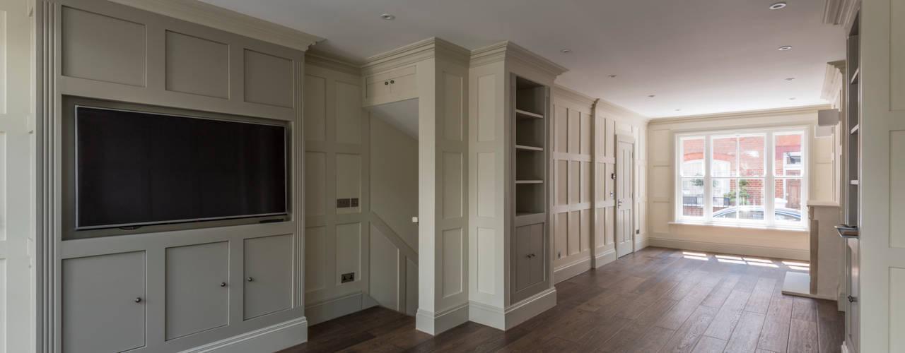 House in Knightsbridge - London Modern living room by Prestige Architects By Marco Braghiroli Modern