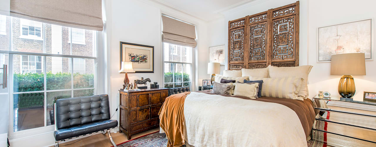 Chelsea House - London Modern style bedroom by Prestige Architects By Marco Braghiroli Modern