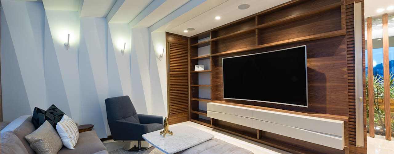 Media room by EspacioInterior, Eclectic