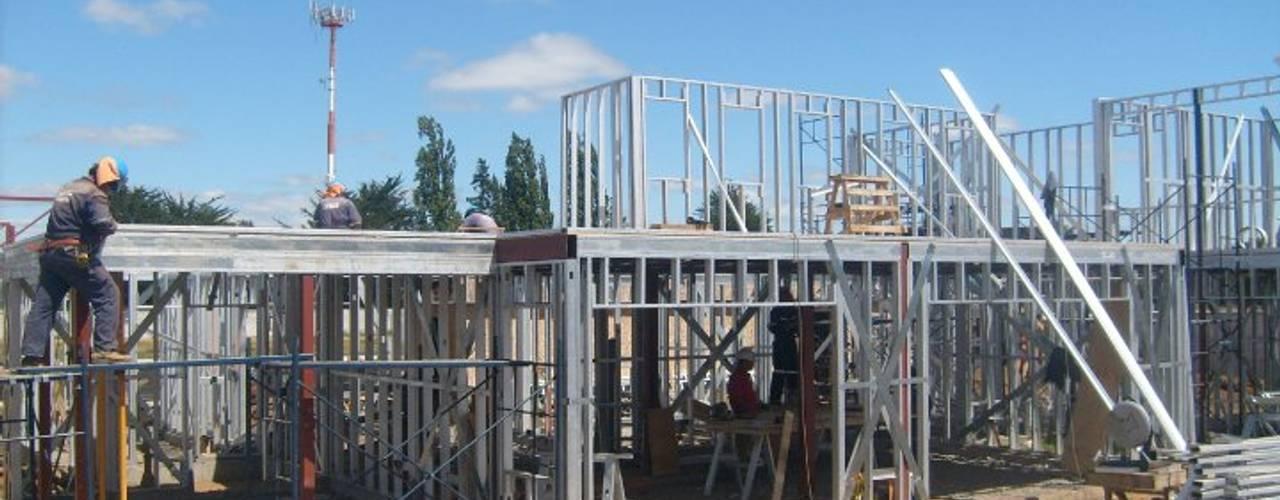 Vivienda Unifamiliar Temuco Portal de la Frontera de AEG Arquitectura, Asesoría y Construcción. Mediterráneo