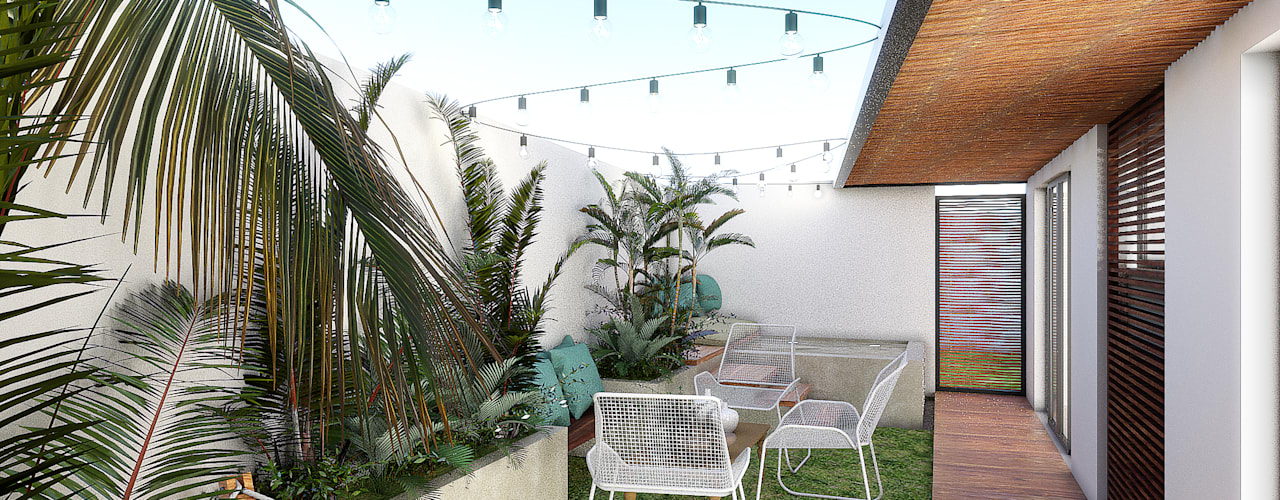 Terrasse de style  par Taller Veinte, Tropical