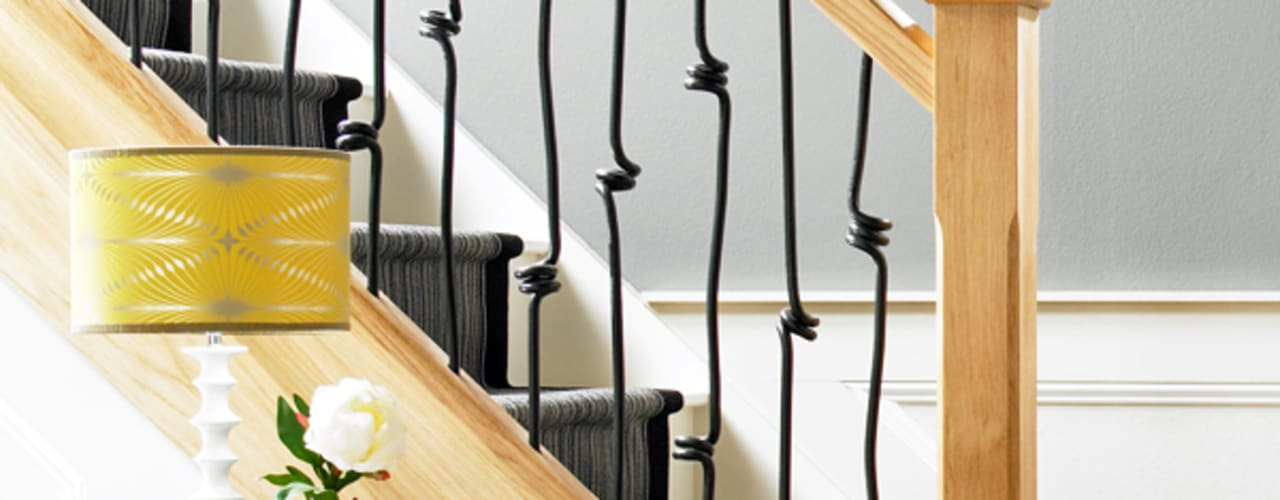 Oak Staircases de Wonkee Donkee Richard Burbidge Moderno