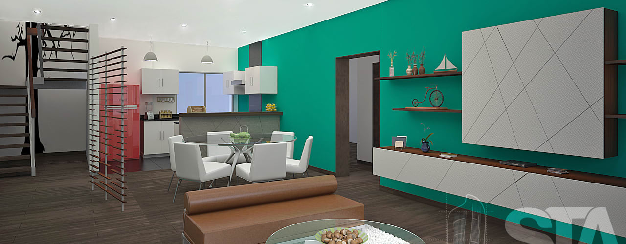 : Salas / recibidores de estilo  por Soluciones Técnicas y de Arquitectura , Moderno