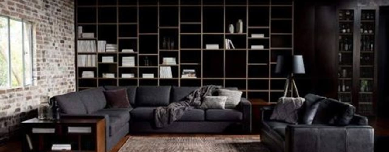 Wood on Black: modern  by Spacio Collections,Modern