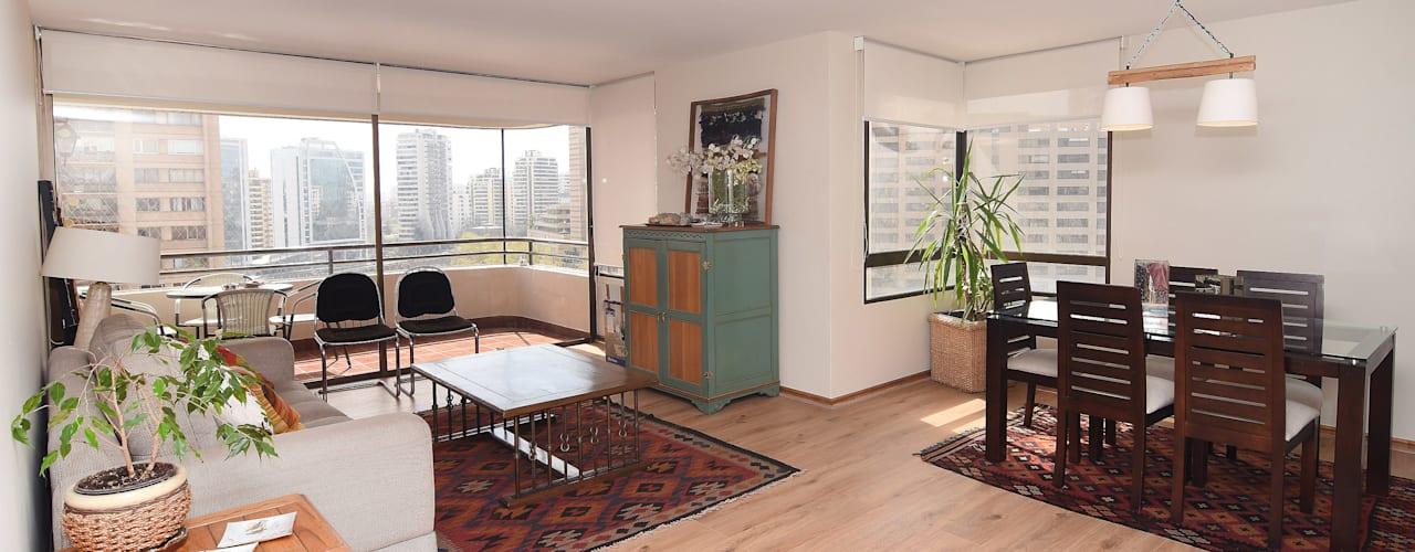 Remodelación Depto Floody: Livings de estilo  por ARCOP Arquitectura & Construcción