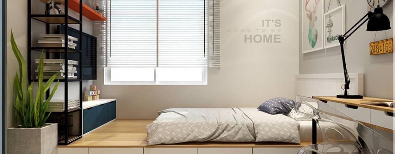 Căn Hộ The Art Đỗ Xuân Hợp Quận 09 Phòng ngủ phong cách châu Á bởi Công ty TNHH TMDV Decor KT Châu Á