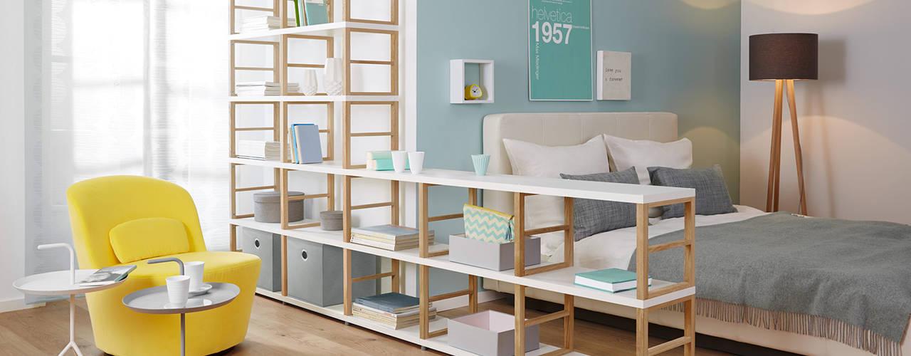 Room Divider Shelves Regalraum UK Scandinavian style bedroom