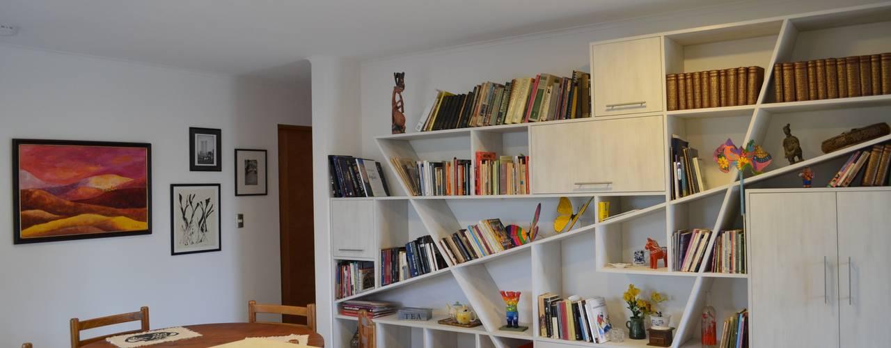 Vivienda Rendic Oficinas y bibliotecas de estilo ecléctico de Qarquitectura Ecléctico