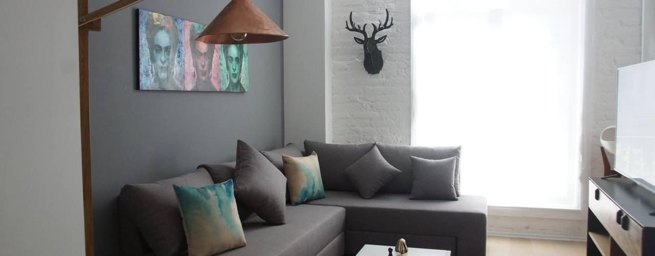 Departamento del Centro: Salas de estilo minimalista por Alameda Estudio