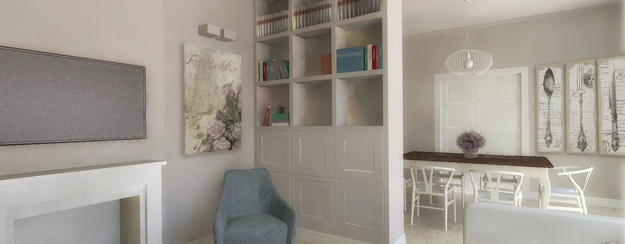 Flavia Benigni Architetto Salas de estilo moderno Blanco