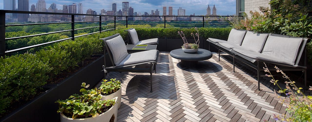Modern balcony, veranda & terrace by andretchelistcheffarchitects Modern