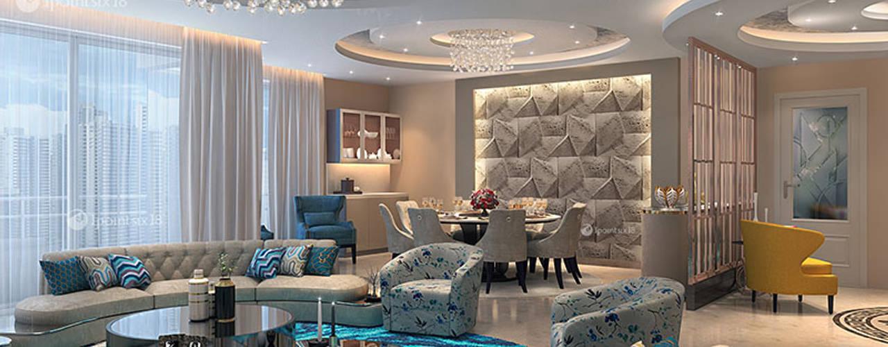 1pointsix18 Salas de estar modernas