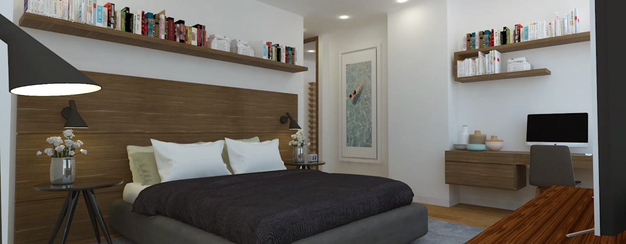 Modern style bedroom by C | C INTERIOR ARCHITECTURE Modern