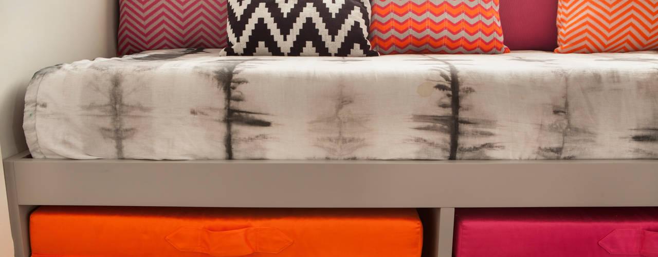andrea carla dinelli arquitetura Modern Bedroom Wood Pink