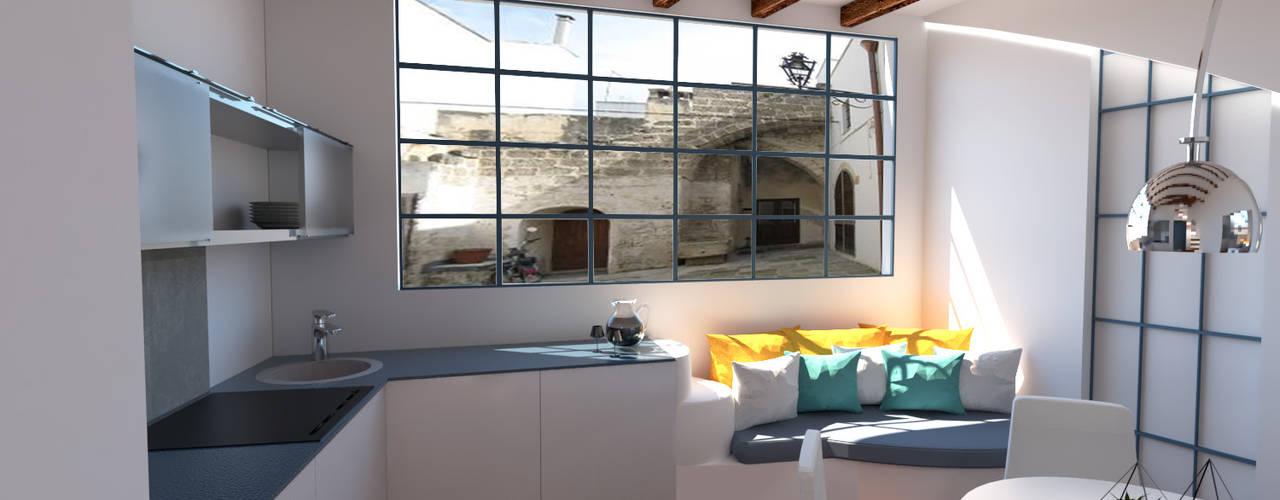 Mini appartamento in stile mediterraneo Cucina in stile mediterraneo di IDlab Mediterraneo