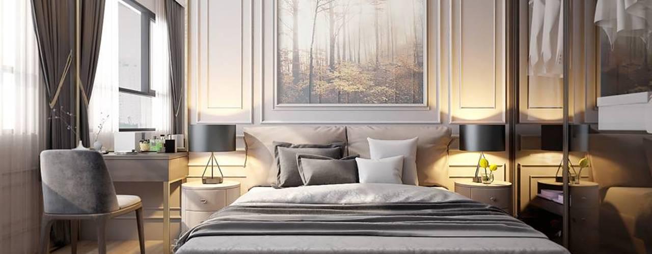 غرفة نوم تنفيذ LEAF Design , كلاسيكي