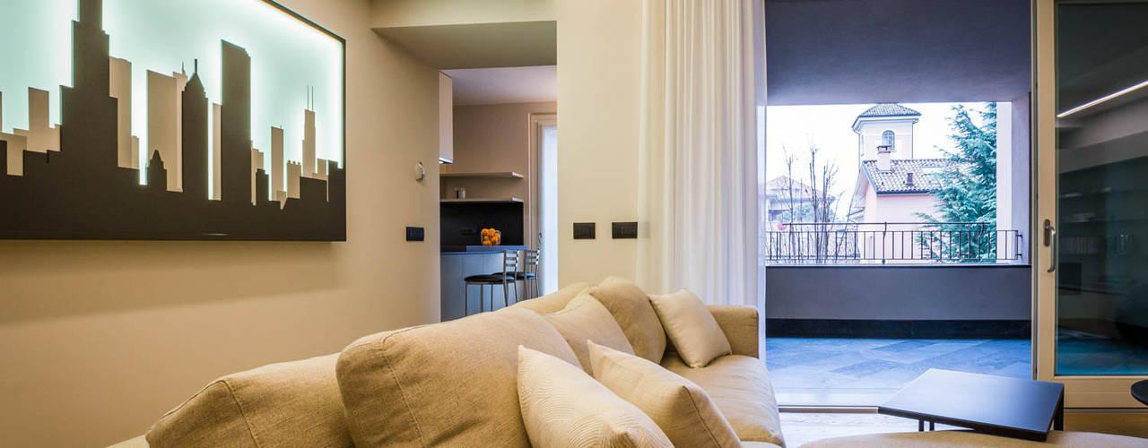 Progetto interior design per appartamento minimal a monza for Appartamento minimal
