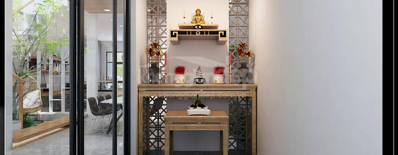 Modern Study Room and Home Office by Công ty cổ phần đầu tư xây dựng Không Gian Đẹp Modern