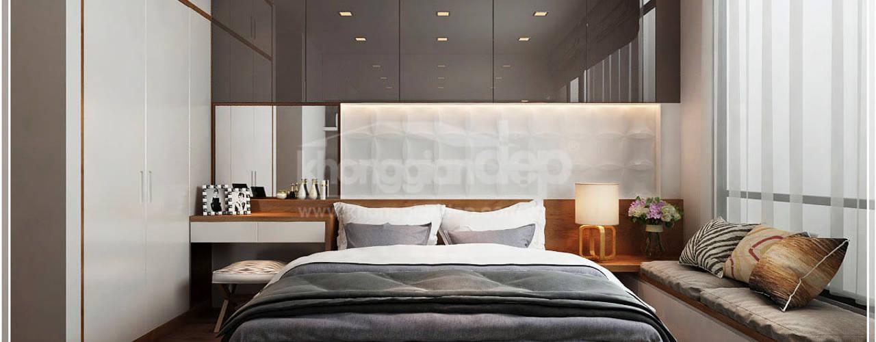 Thiết kế nhà phố Tân Phú: Vẻ đẹp bình dị chan hoà thiên nhiên Phòng ngủ phong cách kinh điển bởi Công ty cổ phần đầu tư xây dựng Không Gian Đẹp Kinh điển