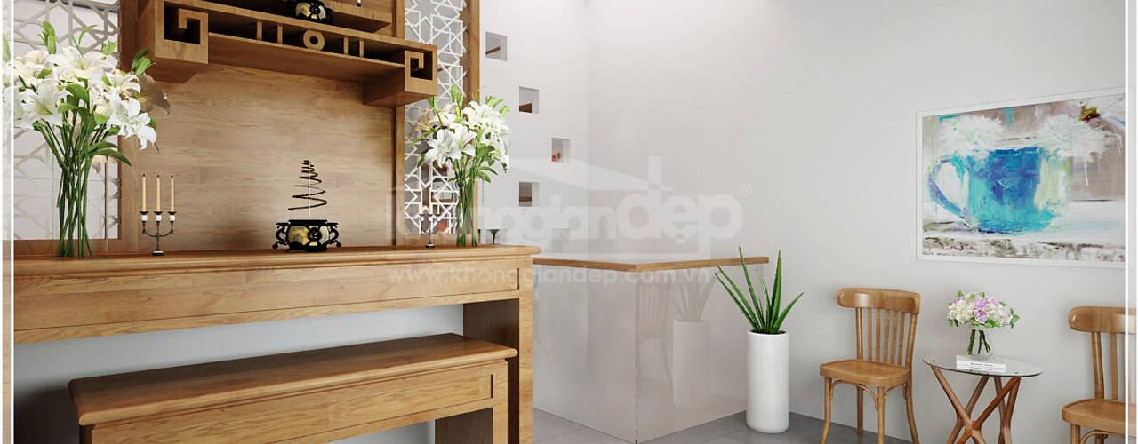 Modern corridor, hallway & stairs by Công ty cổ phần đầu tư xây dựng Không Gian Đẹp Modern