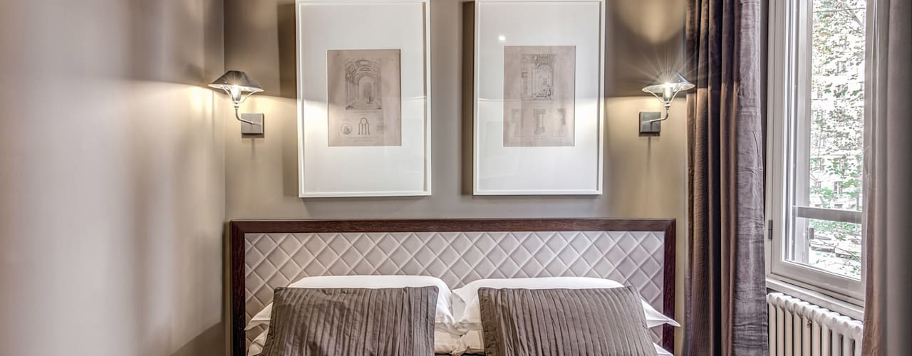 8 colori ideali per camere da letto piccole for Camere matrimoniali piccole