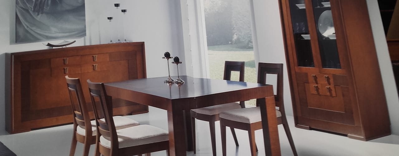 Ruang Makan oleh MUEBLES GATON VALLE, amueblamiento de espacios en Palencia  hacemos que los ambientes que den acogedores con encanto y un estilo diferente , Klasik