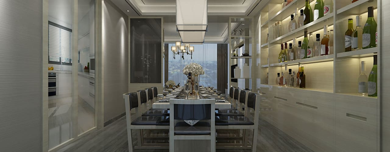 : classic Dining room by The Design Code