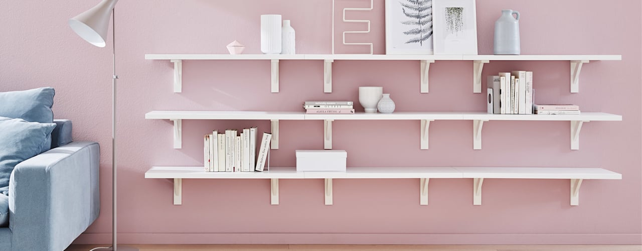BOARD+COUNTRY Cut to Size Shelves:  Living room by Regalraum UK