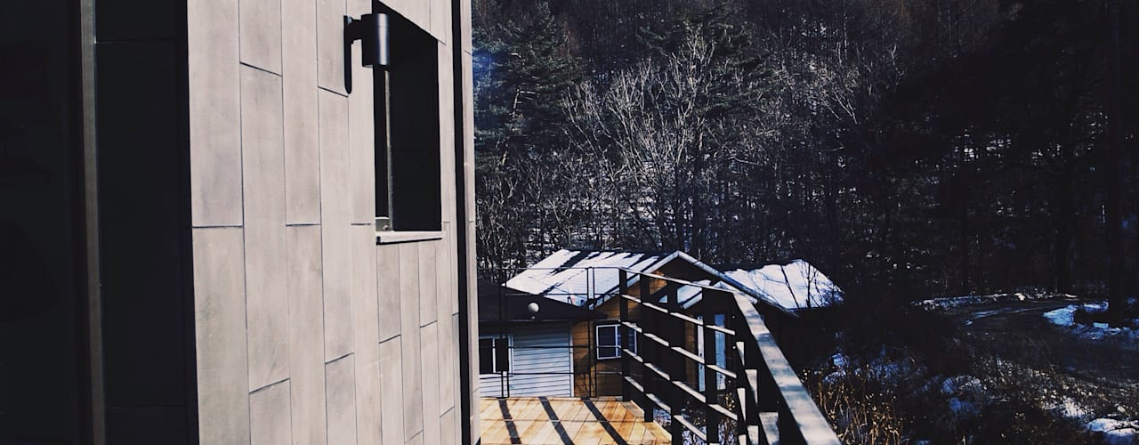 Varandas, alpendres e terraços modernos por 위즈스케일디자인 Moderno