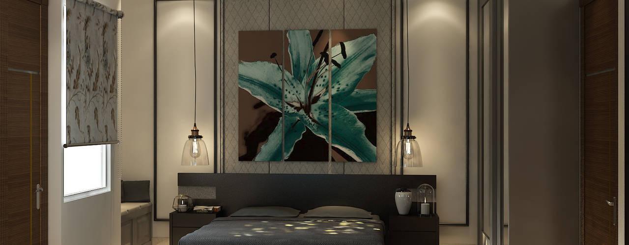BEDROOM VIEW 1:  Bedroom by MAD DESIGN