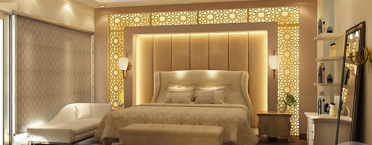 BEDROOM VIEW: classic Bedroom by MAD DESIGN