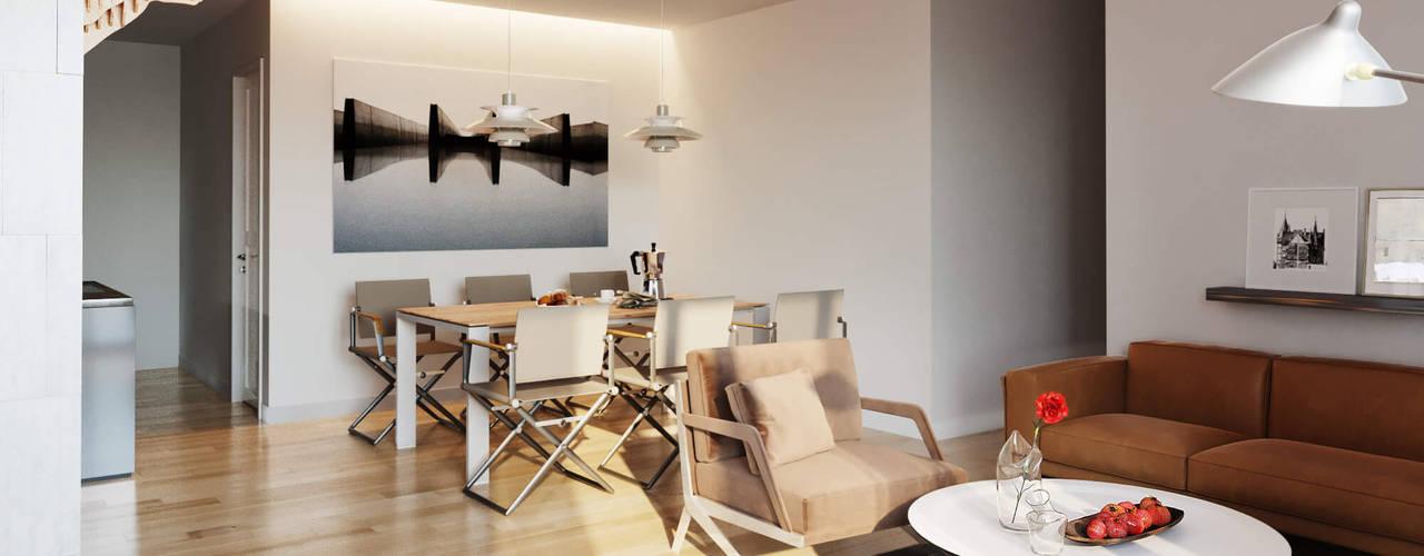 Căn hộ phong các tối giản đương đại (Minimalist Contemporary):   by Tuan Han Design Studio