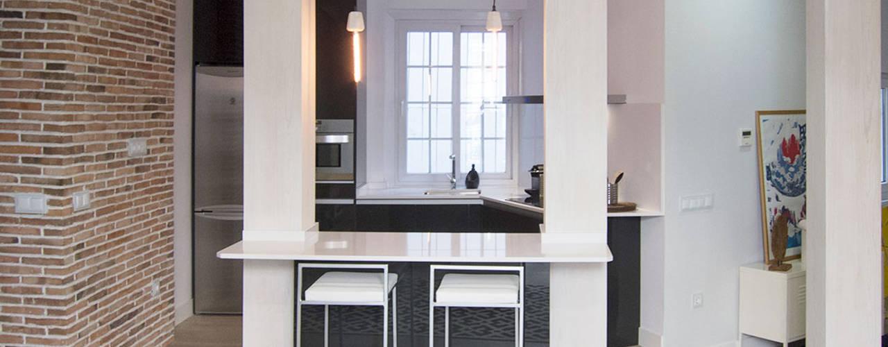 Muebles de Cocina Aries KitchenCabinets & shelves Black