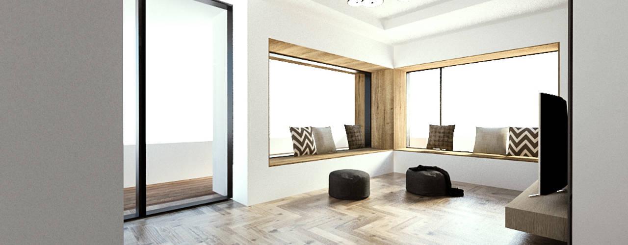 청주시 수동 ......노후된 주택 리모델링 디자인 모던스타일 거실 by 디자인 이업 모던