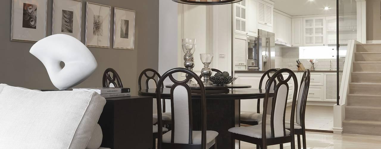 彰化T宅:  餐廳 by Ho.space design 和薪室內裝修設計有限公司