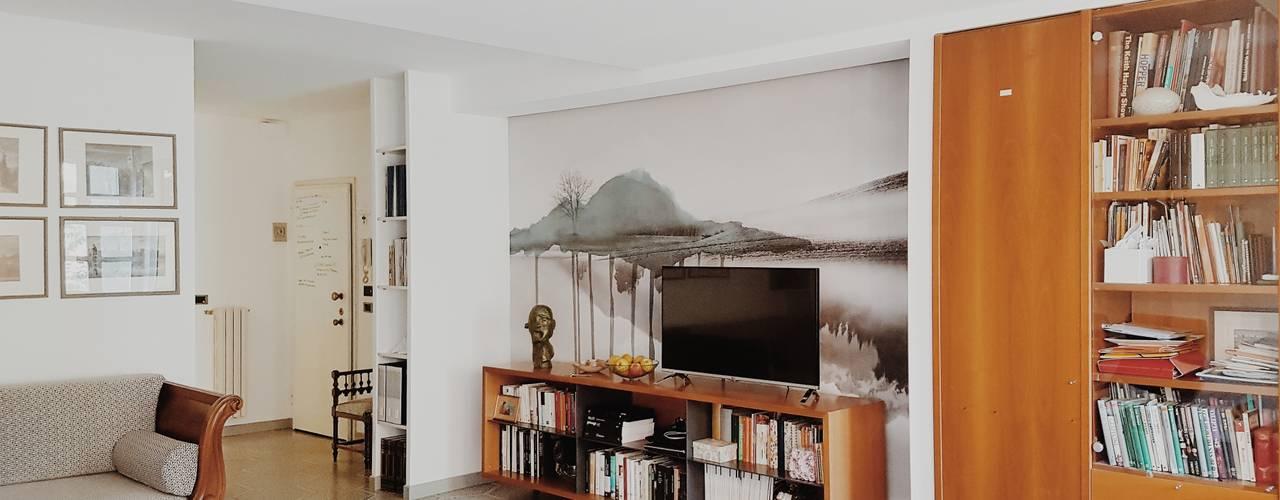 Restyling di soggiorno: come dare nuova vita ai mobili anni Novanta Soggiorno moderno di smellof.DESIGN Moderno